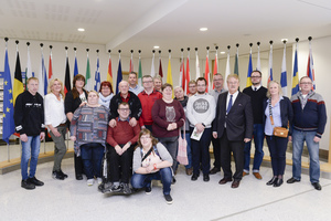 Werkstattrat besucht Europaparlament in Brüssel
